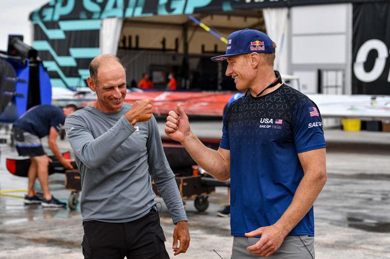 Francesco Bruni and Jimmy Spithill
