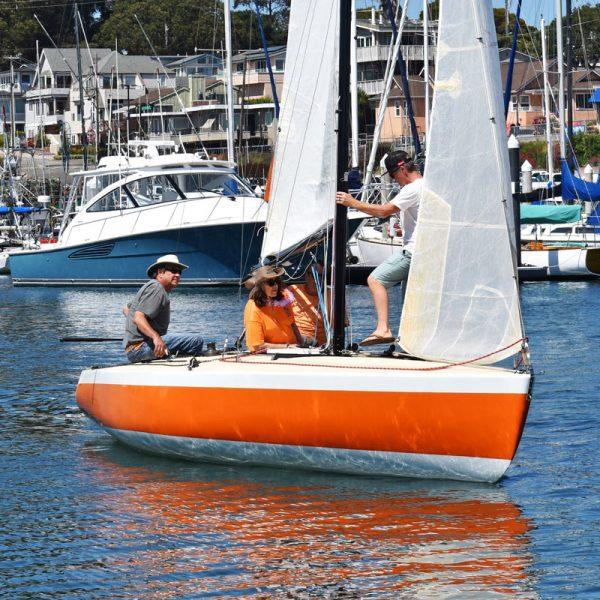 Nelly Belle sailing in Santa Cruz Harbor
