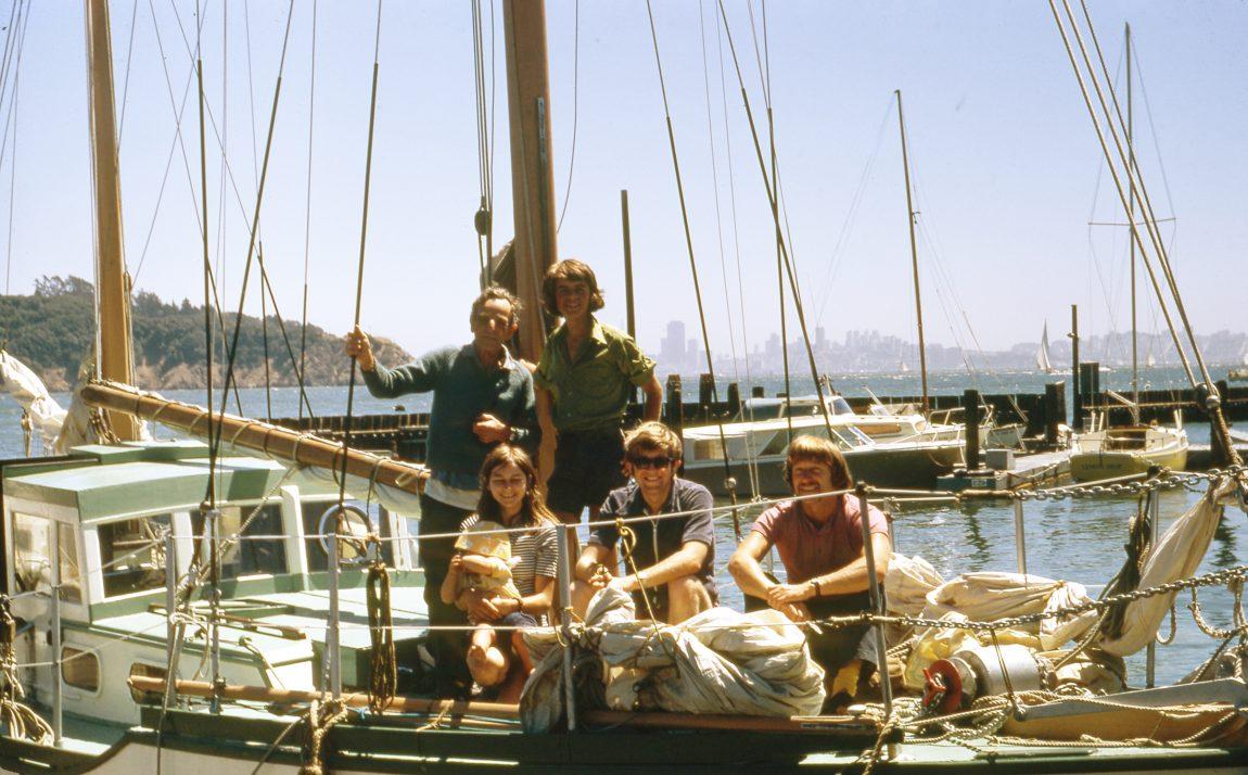 Qui Vive and crew docked in Tiburon