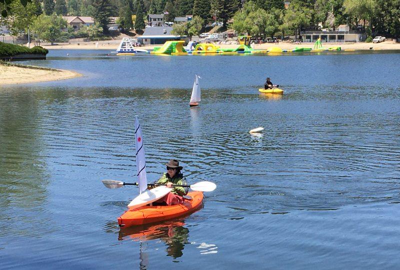 kayak with R/C Laser