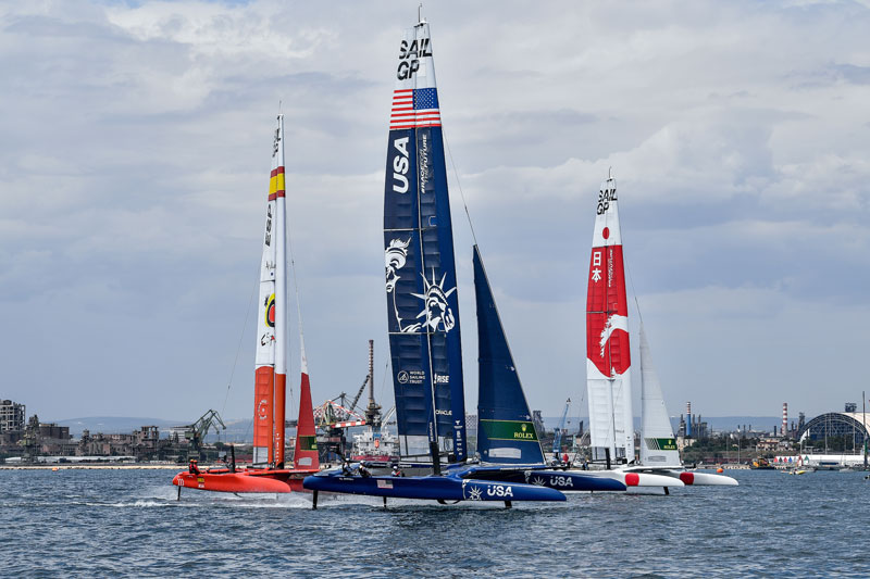 Spain, US and Japan SailGP boats in Italy