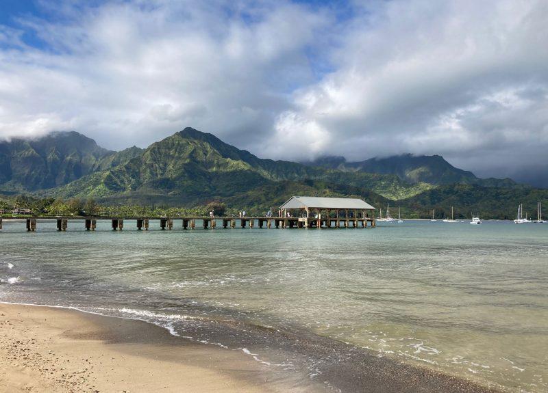 Hanalei Bay pier and vista