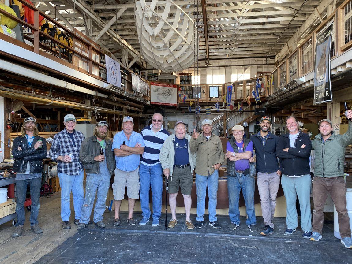 volunteers in workshop