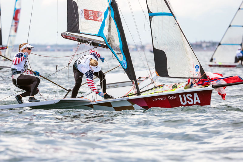 49erFX sailors Shea and Roble