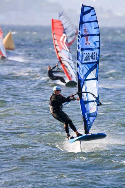 Foiling Windsurfers