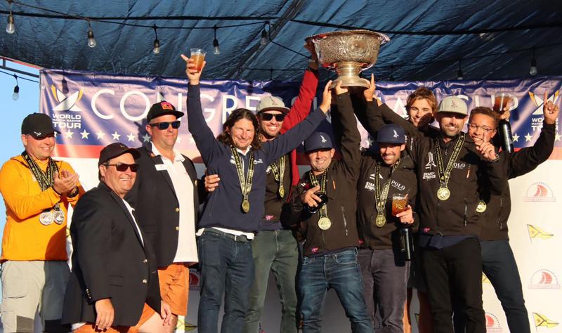 Congressional Cup podium celebration