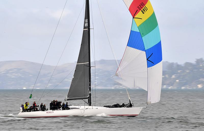 Merlin at the finish