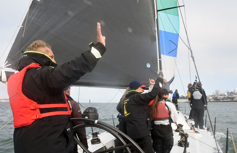 crew waving