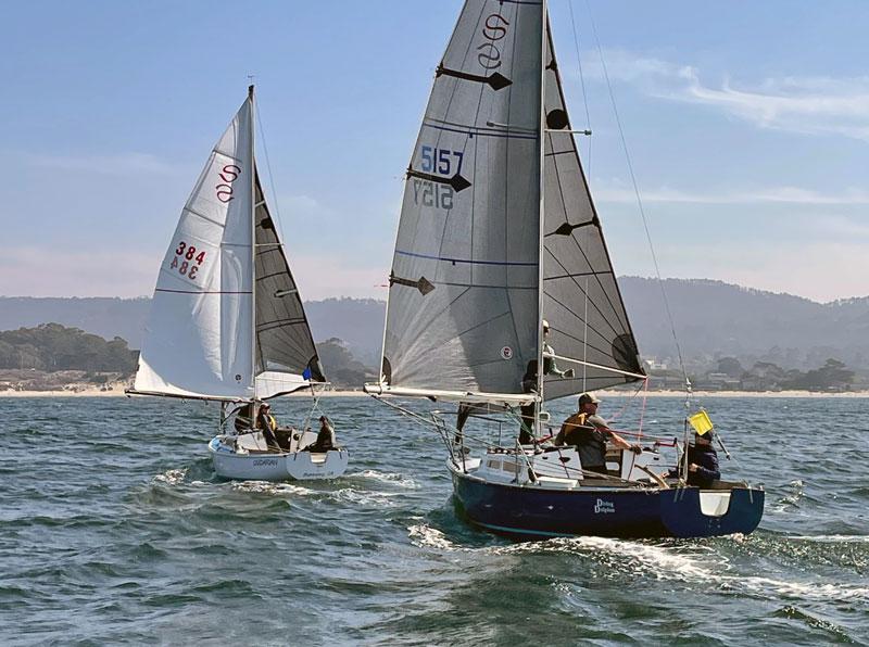 Santana 22s sailing in Monterey