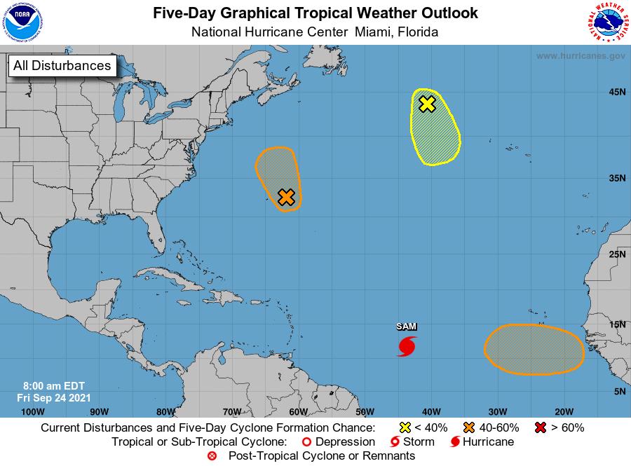 Hurricane forecast graphic