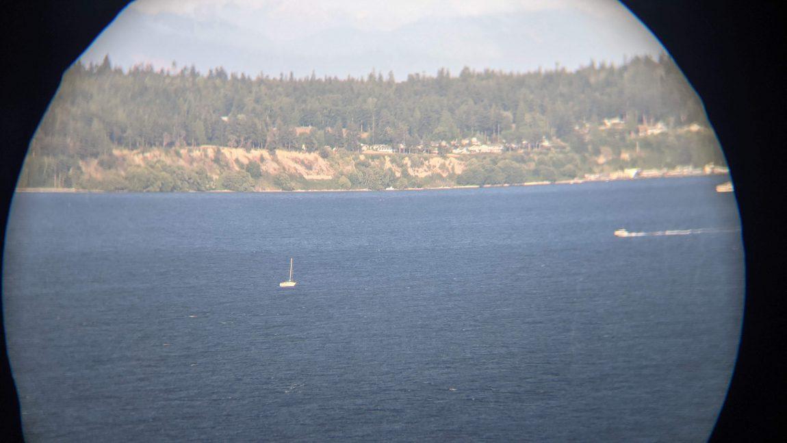 drifting sailboat