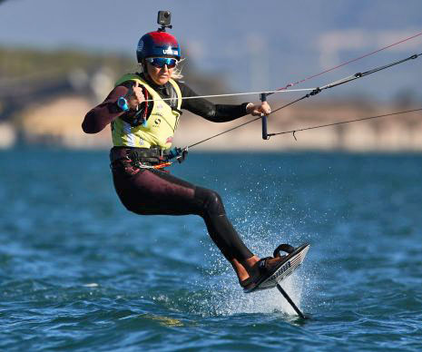 Daniela Moroz foiling at the Worlds