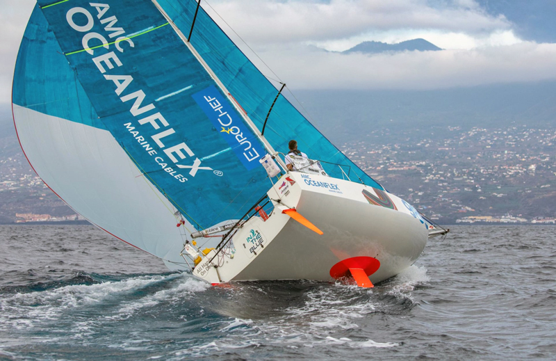 Christian Kargl finish in La Palma