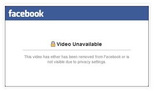 Facebook video unavailable