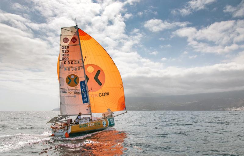 Melwin Fink's finish in La Palma
