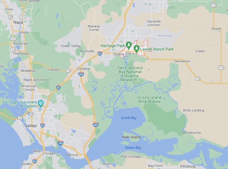 Suisun City map