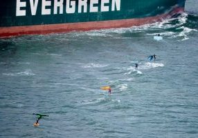Ship surfing