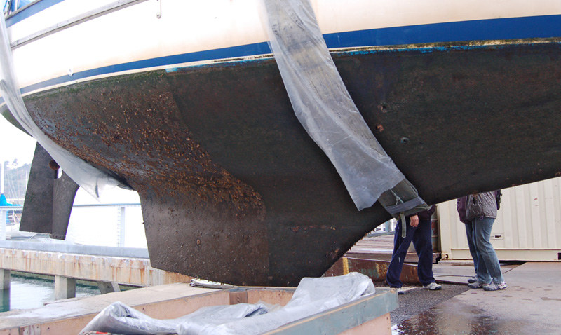 Boat bottom paint clear
